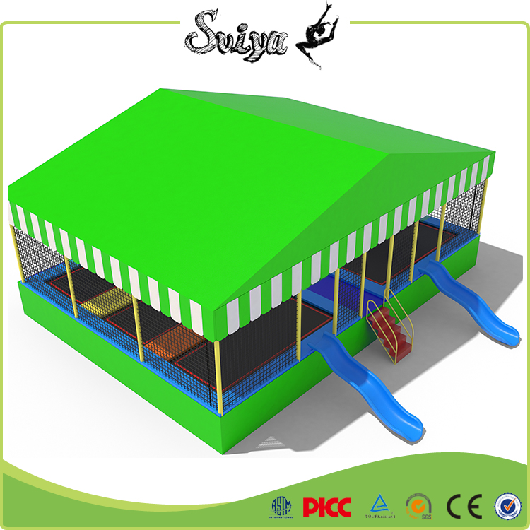 Xiaofeixia TUV Standard Cheap Price Outdoor Commercial Trampoline Park with Children Slide