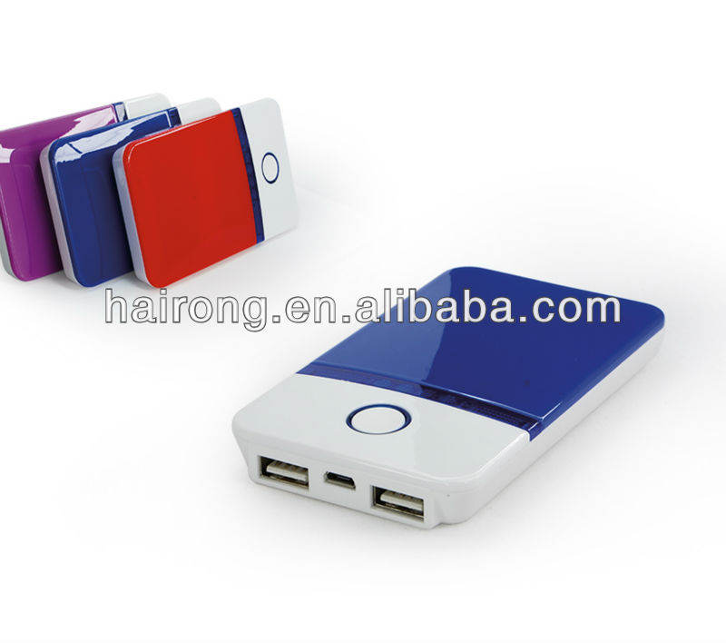 Hairong universal portable power bank colorful 4000mah power charger with nice lookings