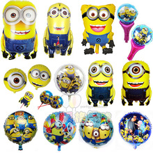 Kids party decoration cartoon minion helium balloon