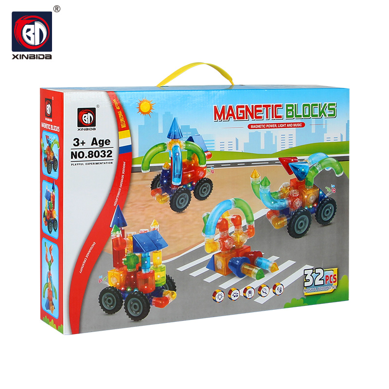Magnetic block educational toy building block set