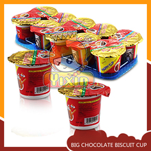 Big dip stick biscuit cup chocolate