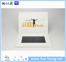 Beautiful design customized 7 inch Video Brochure, Usb Digital Video Player Greeting Cards