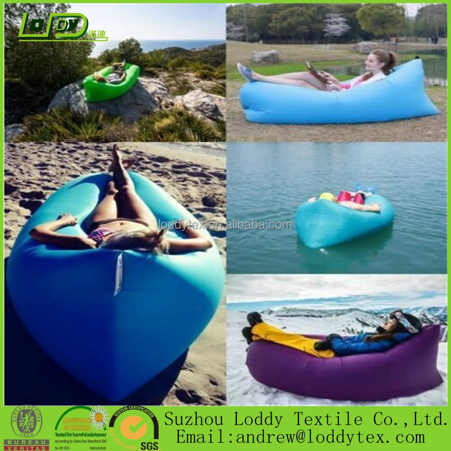 3 season type Nylon fabric and pe fast Air sofa inflatable