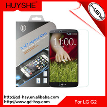 HUYSHE Anti broken tempered glass screen protector for lg g2 import mobile phone accessories