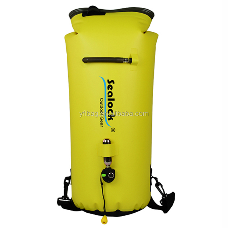 Full waterproof boating dry kayak deck bag as rescue bag