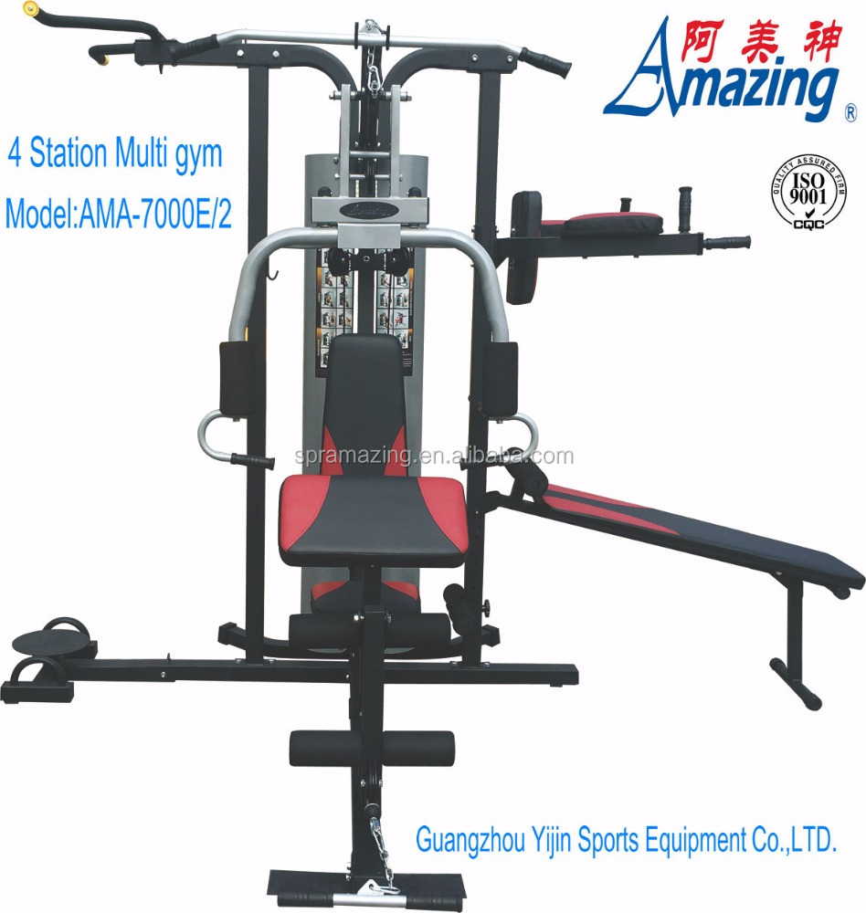 New design 4 in 1 Multi Station Home Gym 4 station strength straining equipment fitness machine AMA 7000E/2