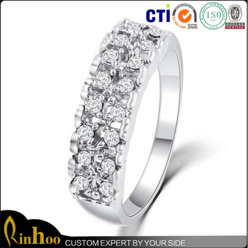 2016 the latest new products design luxury silver diamond ring for engagement wedding bridal jewelry