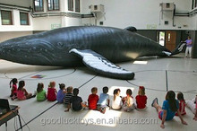 Life-Sized Wildlife Replica Inspires Children To Learn giant inflatable Humpback whale