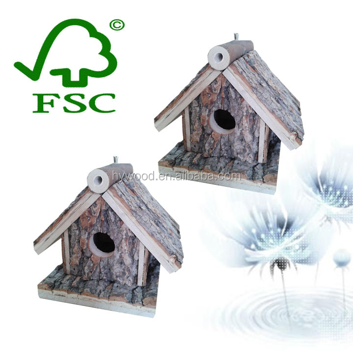 Small Cheap Garden Outdoor Wooden Craft Bird Nest