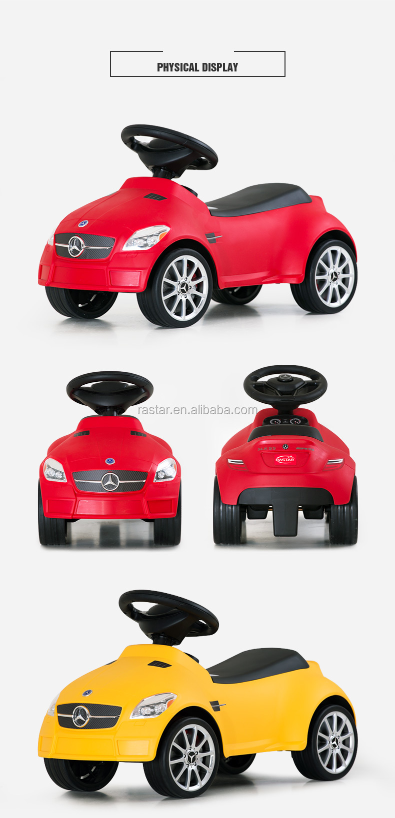 RASTAR wholesale Mercedes children no battery powered sliding toy car
