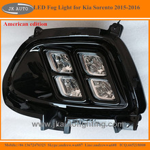 America edtion LED Fog Lights for Kia Sorento LED DRL New Arrival Quad Eye LED Daytime Running Lights for Kia Sorento 2015
