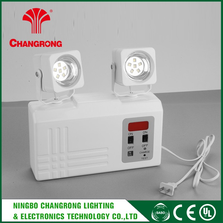 Led Twin Spots Battery Operated Emergency Light , UL Backup Battery Led Emergency Light