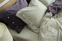 High Quality Plain Linen Percale Bed Sheet/duvet/bed Cover/bedding Set
