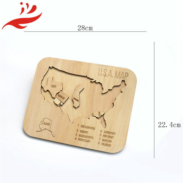unique design Wood Craft Wall Decorations  world puzzle map