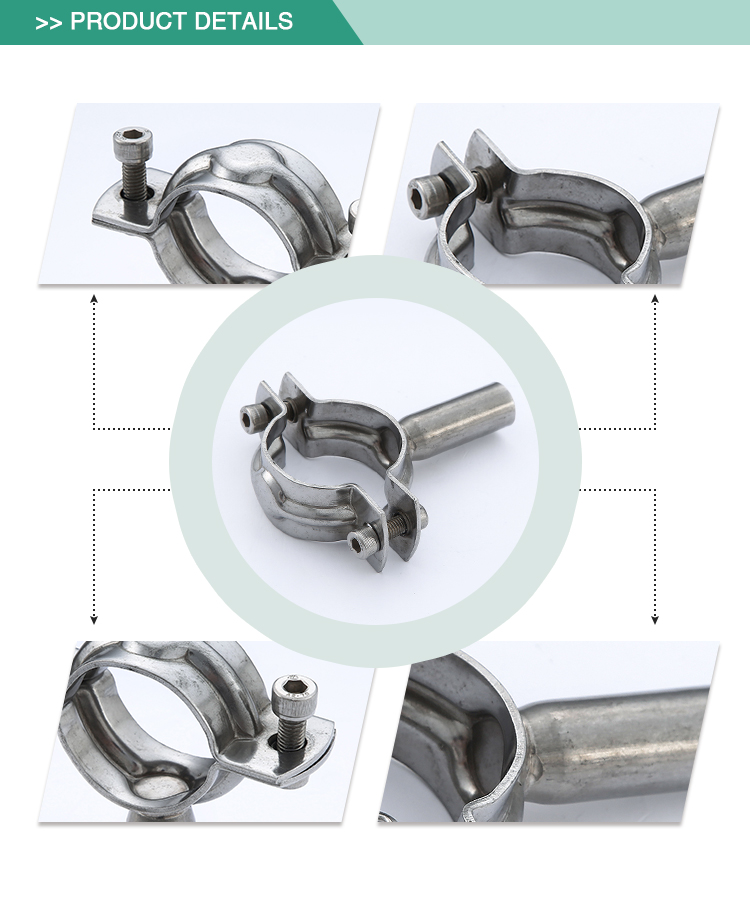 ShengFeng Sanitary stainless Steel ss304 round pipe holder