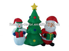 christmas decorations 2014 inflatable Santa, snowman and snowman