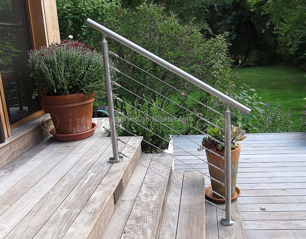 JINXIN Railing Accessories Exporter/ make stairs handrail/Stainless Steel Cable Railing System Wire Rope Cable