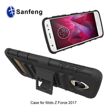 Holster Cover Case For Motorola Moto Z2 Force T-Shape Kickstand PC+TPU New Phone Case