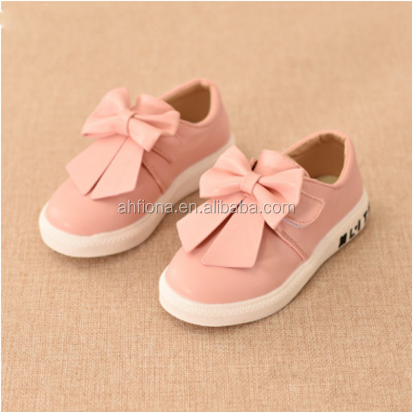 F10082E Wholesale korean style girls' bowknot shoes high quality children leisure shoes