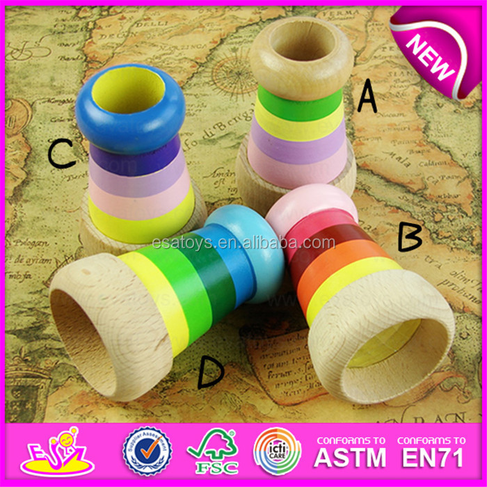 Colorful Funny Children Gifts wooden mini kaleidoscope toy,wooden toys for children magical kaleidoscope bee eye effect W01A124