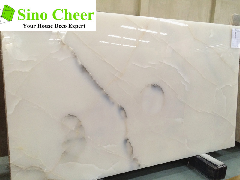 Polished stone slab high quarry white marble price in India