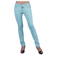 2016 Latest Hotsale Jeans Women Cotton Fabric Jeans Light Blue Ladies Skinny Jeans Denim