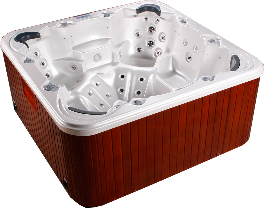 Latest design music system rectangular freestanding acrylic 6 person massage and spa indoor whirlpool underground hot tub