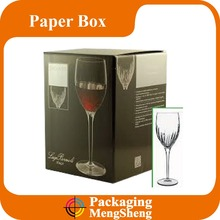 Folded tea cup and saucer boxes, champagne glass gift box,shot glass packaging box