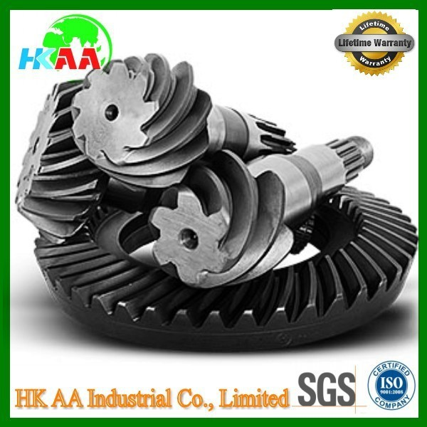 Custom CNC grinding pinion gear, crown wheel pinion for lawnmowers