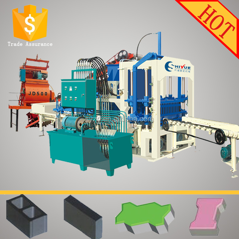 small construction equipment QT4-20 full-automatic brick making machines cement brick and block making machine