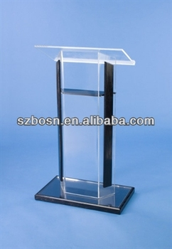 Acrylic Podium with Black Wood Accent Kit