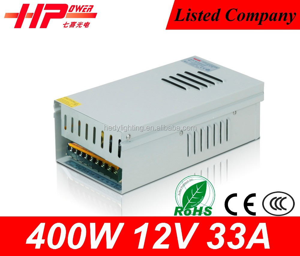 CCTV camera power waterproof led driver constant voltage output 400w 12v electric recliner power supply