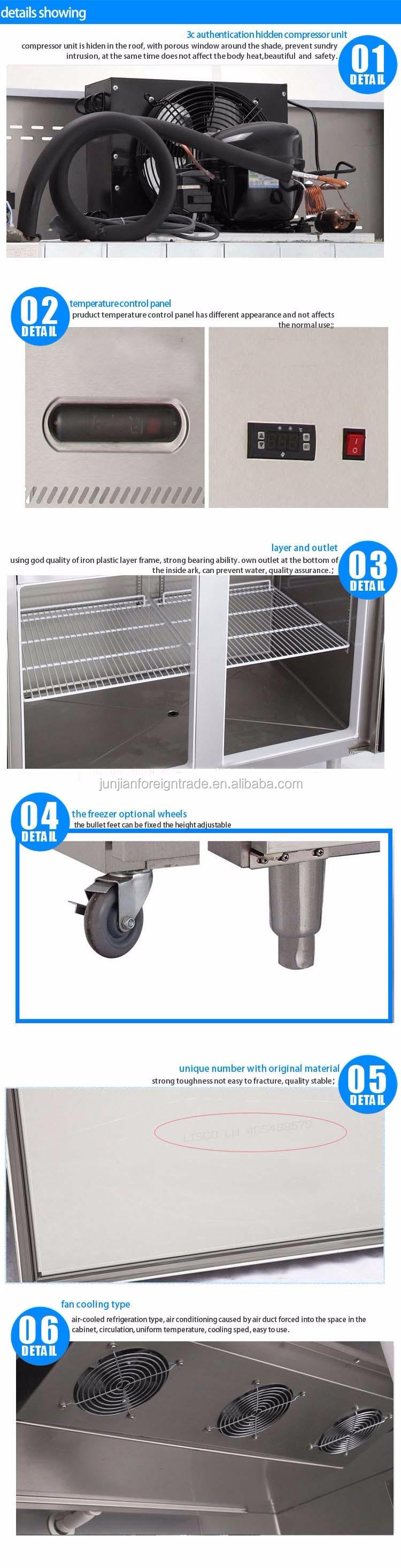 Stainless Steel Commercial Double Door Upright Freezer