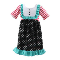 Summer baby party dresses for 8 year old girls short sleeves pakistani children frocks designs