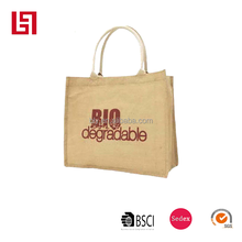 customize logo print customize tote jute bag for export