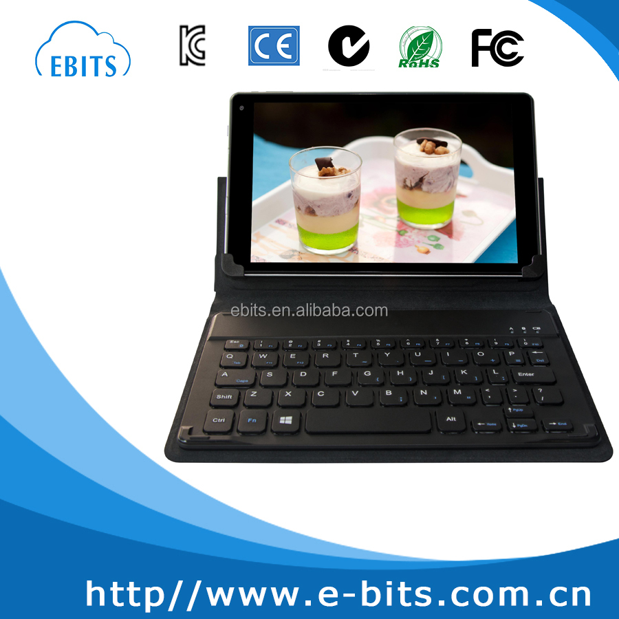 Foldable leather shell/ magnetic detachable leather case bluetooth keyboard