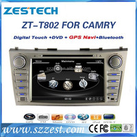 ZESTECH Wholesales 8'' HD touch screen car dvd with gps navigation double din car dvd player for Toyota Camry 2007-2011