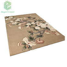 new fashioned luxurious flower design floor wool carpet hand-tufted carpet