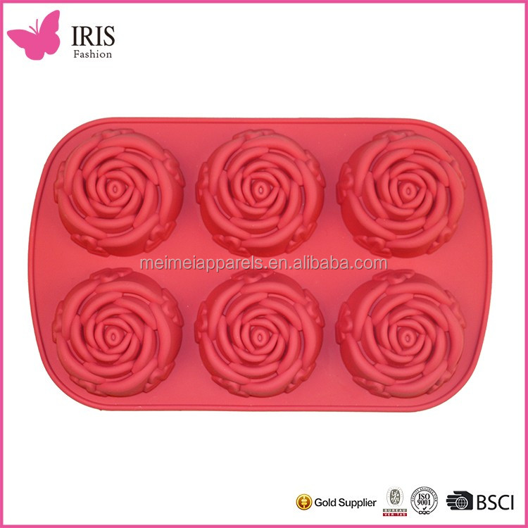 Hot Selling Funny Rose Cake Bakeware silicone cake tools , kitchen tools