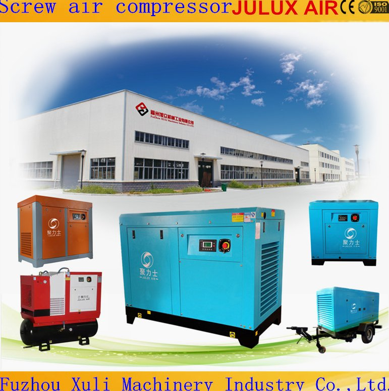Hot Selling 7.5kw-200kw 10hp-270hp Super Silent Type Industrial Rotary Twin Screw Air Compressor Made in China