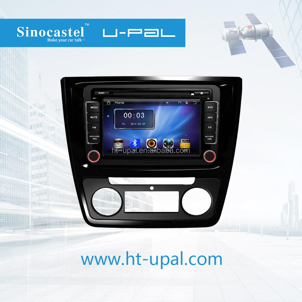 Car GPS Navigation System with 7-inch HD Digital Screen, DVD, Bluetooth, FM/AM/RDS, iOS Airplay, Suitable for Skoda Yeti 2014