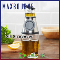 hotselling kitchen measured glass oil dispenser bottle with Pressure Pump