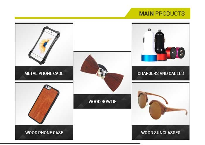 200 Factories Various Products Promotional Small Gift Items Wooden Mobile Case