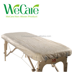 Disposable non woven hospital bed mattress cover with elastic all around massage bed cover
