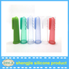 Wholesale Soft silicone material clear Baby Finger Toothbrush
