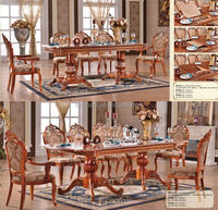 Dining room sets luxury/uphostered banquet dining /furniture manufacturer from China 216#