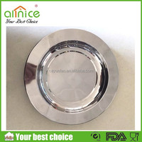 Round flat plates silver plated tray/flat plate/gold plated dinnerware set