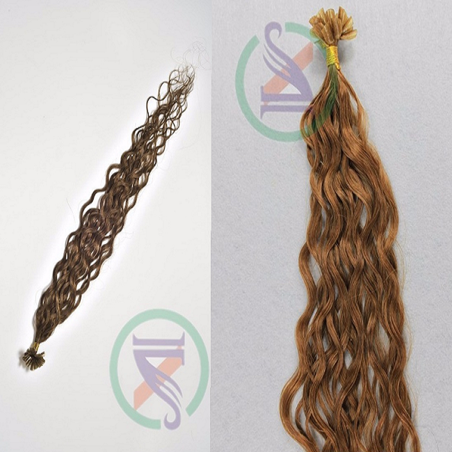 Unprocessed virgin indian remy u tip hair loose deep Wave tip human hair extensions