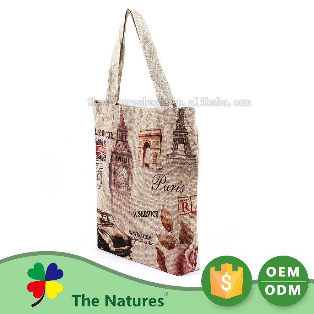 Quality Guaranteed Custom Made Fashion Tote Burlap Bag With Drawstrings