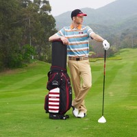 Swing trainer type golf bag